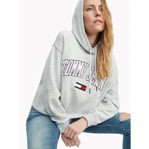TOMMY JEANSOrganic Cotton Cropped Hoodie