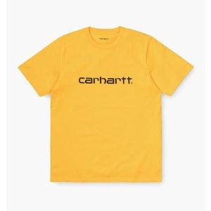 Carhartt黄色logo短袖T恤
