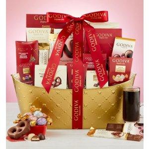 Godiva® Valentine Chocolates Gift Basket