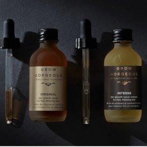 直接6折+再送€30的三件套Grow Gorgeous 生发精华、加强版闪促 单瓶可享不用拼凑单