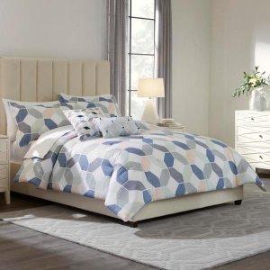 Home Decorators CollectionPratt 5-Piece Reversible Cameo Pink Geo King Comforter Set