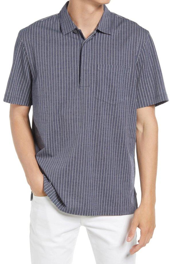条纹Polo衫