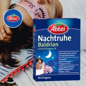 40粒装仅售€4.99Abtei Nachtruhe 助眠片 天然草药 缓解紧张焦虑