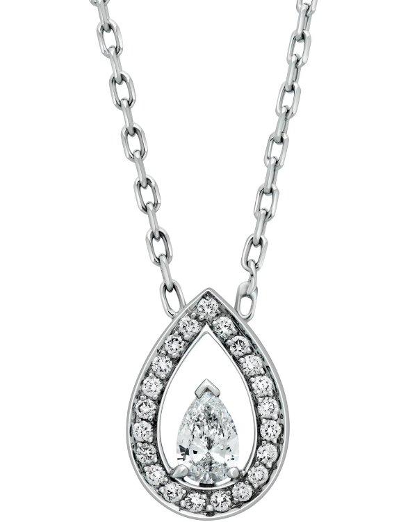 0.41克拉钻石18k白金项链