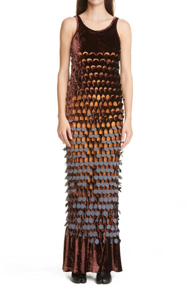 丝绒亮片裙