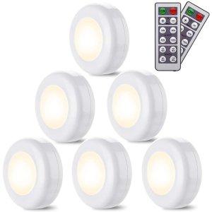 Elfeland LED橱柜衣柜壁灯 6个 带遥控