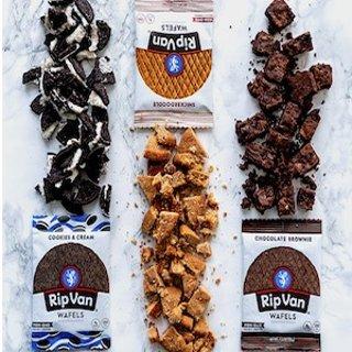 限时7.5折 低至$9.9一包仅$0.83Rip Van 华夫饼干促销  香甜酥脆小零食 多种口味可选 12包装