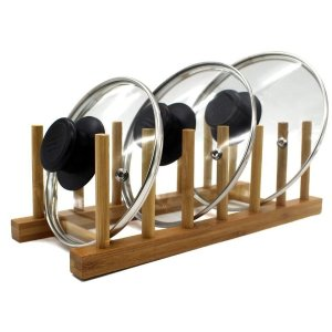 NNERNEED Bamboo Wooden Dish Rack Plates Holder