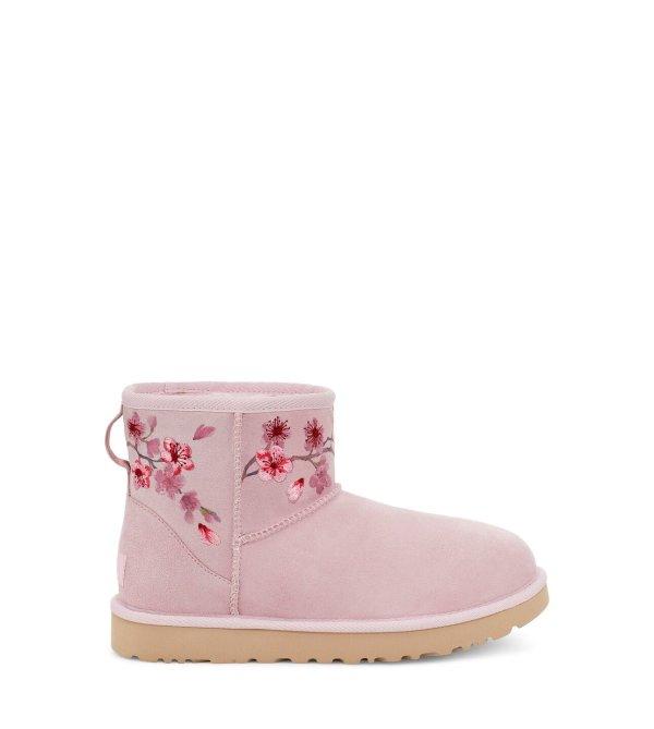 刺绣雪地靴