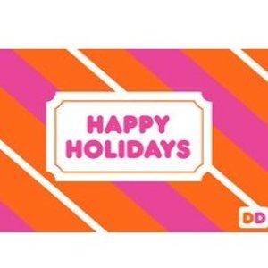 买$25礼卡送$10Dunkin' Donuts 官网礼卡买送活动
