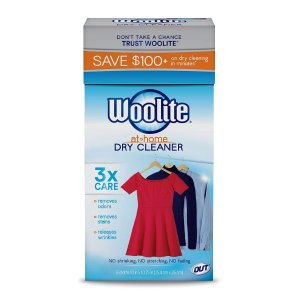 $8.43(原价$14.99) 干洗店 拜拜Woolite 家用干洗片 清香型 6片装 祛皱祛污祛味一片搞定