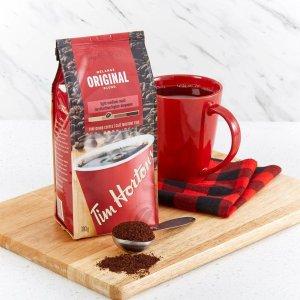 $5.98(原价$7.49)研磨咖啡粉300gTim Hortons 中度烘焙 Original 、Dark等多口味咖啡