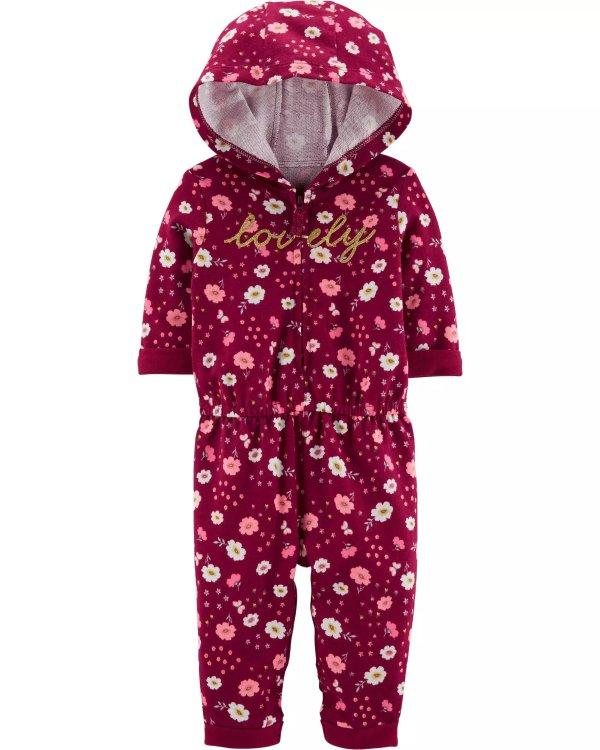 婴儿连帽全棉连体衣