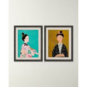 Pair of Kimonos Wall Art by Wehkemp