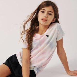低至4折Abercrombie & Fitch 儿童服饰清仓促销