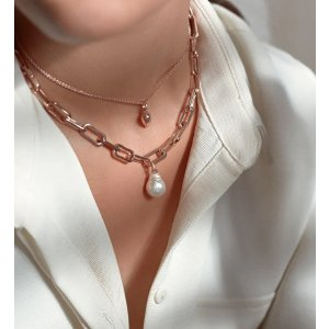 Monica Vinader玫瑰金项链