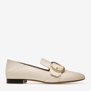 LOTTIE WOMEN'S CALF LEATHER SLIPPER IN BONE