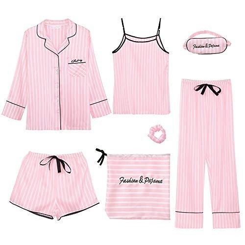 维秘风 条纹睡衣7件套