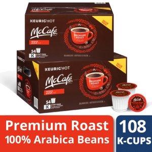 $28.00 每杯仅$0.26史低价:McCafe 中度烘焙咖啡胶囊 108枚 限时特价