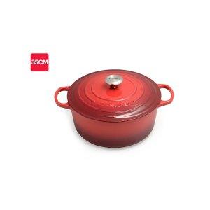 Le Creuset铸铁锅 35 cm (Cherry Red)   Casserole Pans  