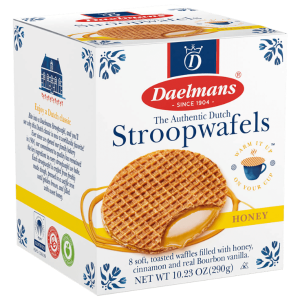 $29 每盒$3.62Daelmans 蜂蜜、巧克力、枫糖3口味华夫饼  共8盒