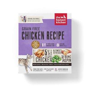 $14.89The Honest Kitchen 人食用级无谷物脱水猫粮 鸡肉味 2磅