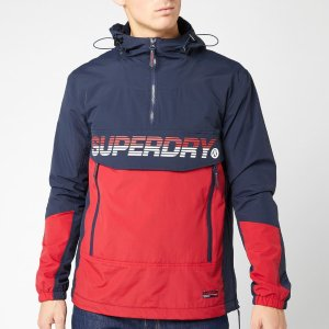SuperdryMen's Core Overhead Cagoule - Navy/Red