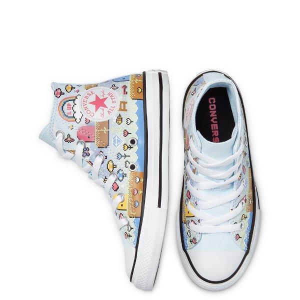 像素图案帆布鞋
