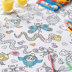 7.5折起 围兜$6.99上新:Simons 儿童餐垫、餐具等热卖  收可涂鸦餐垫套装