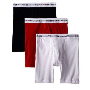 现价$20.99(原价$39.5)Tommy Hilfiger 男款平角内裤3条装