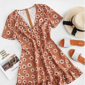 Up to 77% OFF + Extra 18% offZaful Floral Dress on Sale