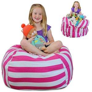 Brilliant Creative Qt Stuff N Sit Stuffed Animal Storage Bean Bag Squirreltailoven Fun Painted Chair Ideas Images Squirreltailovenorg