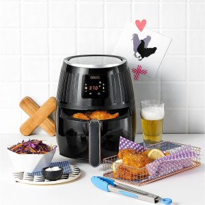$39.99 Crux 2.6 Qt. Touchscreen Air Convection Fryer, Created for Macy's