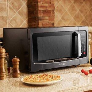 $118.72近期好价Toshiba 东芝黑钢热风二合一微波炉烤箱