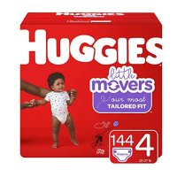 Little Movers 4 (22-37 lb.)号尿不湿, 144 片