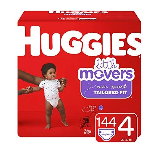 Little Movers 4 (22-37 lb.)号尿不湿, 144 片