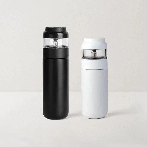 茶水分离不锈钢保温杯