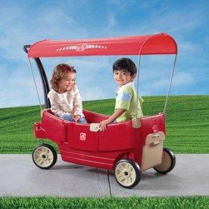 $68.4(原价$179.99)史低价:Step2 All Around 带顶棚 双人四轮拖车特价