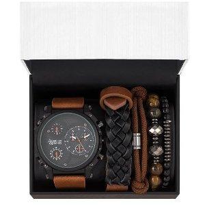 $19.99 (原价$40)macys 时尚腕表礼盒套装,多色款