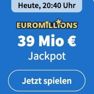 周二/五开奖 2注机会只要€6EuroMillions 彩票奖金累计3900万欧元 单车秒变摩托
