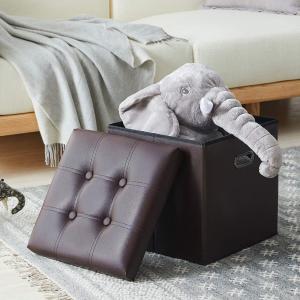 $29.99CAROSE 人造革多用途收纳凳 可当边桌、脚踏 适合小空间