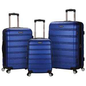 $97.99Rockland ABS Upright Set with Spinner Wheels Luggage (3-Piece)