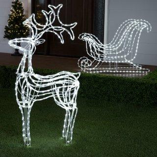 5折 收超美星光雪橇鹿Lowes 精选圣诞树 圣诞装饰品清仓大促