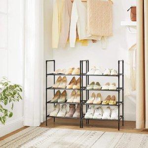 SONGMICS4层鞋架 2件套 可堆叠