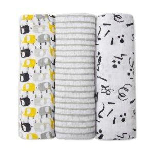 Zutano纱布包巾 3条装