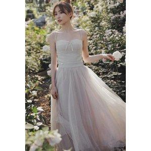 Ecru EmissaryMOLIFUSU   Shimmering Ballet Dress