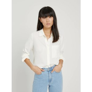 Frank And OakButton-Up Blouse in White