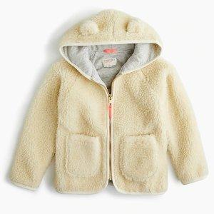 女童毛绒外套