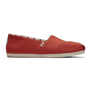 Toms5/6-10码经典红帆布鞋