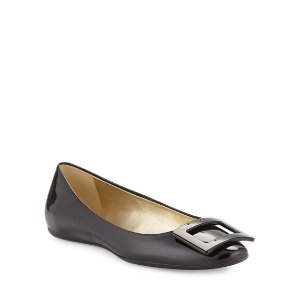 Roger Vivier$50 off $200 purchaseGomette Patent Leather Flat, Black